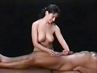 Woman gives hot massage to a big dick