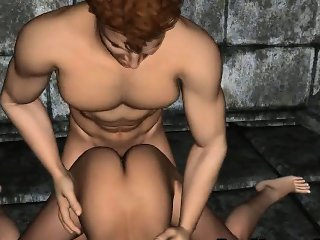 Hot 3D redhead babe gets fucked hard by a vampire