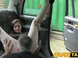 FakeTaxi - Posh lady gets a good hard fuck