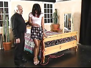 Sexy ebony spanked.