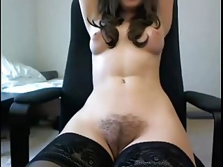 cam girl talking and playing