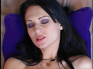 Skank filling ass with fist and cock