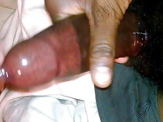 jerking my dick with condom