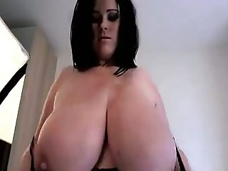 Busty Brit rachel showing off her huge natural tits