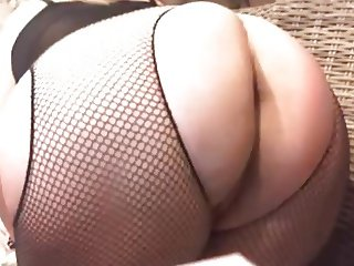 Bejeweled titty wife having big ass spanked by man