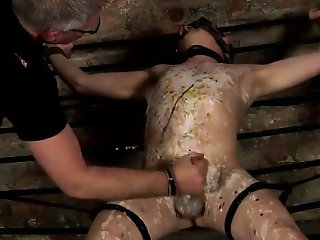 Nude men Draining A Boy Of His Load