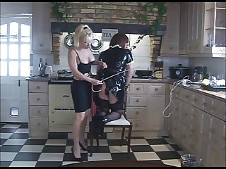 More spanking in the kitchen