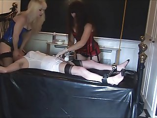 Angelica teased by Madame C & Mistress Jane