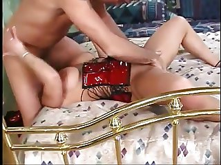 Hot Curvy Brit Cougar Banging in Vinyl and Heels
