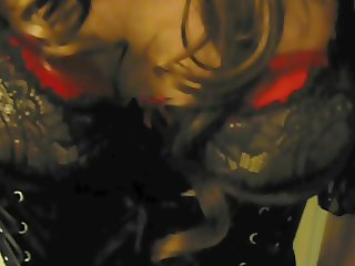 crossdresser laurenne nl in black and red lingerie