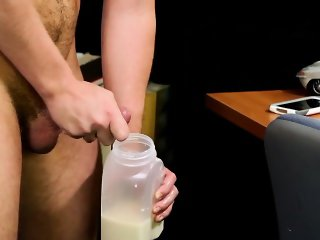 Gay newbie jock jerks off