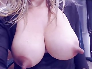 Milk dripping from extra long nipples