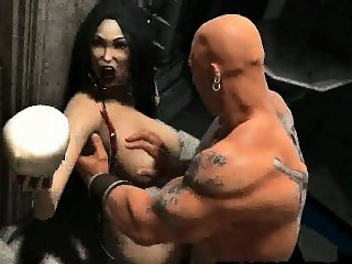 Tasty 3D cartoon vampire babe getting fucked hard