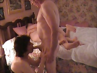Crossdresser and Lover Play With Others