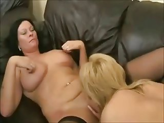 Horny Fat BBW Lesbians sucking and licking wet pussy
