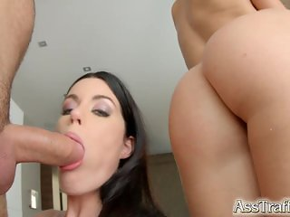 Ass Traffic Double anal and dual cum swallow