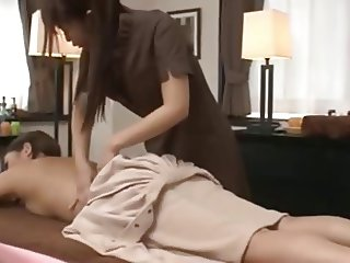 A Japanese Masseuse and her Client
