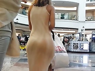 Candid big booty in dress!!