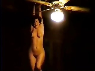 BDSM slave hanging tortured in pain