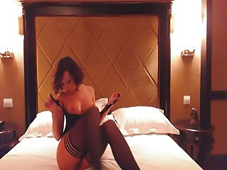 Wife has naughty chat with husband on webcam