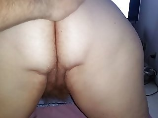licking the wifes hairy pussy, fingering, asshole wink