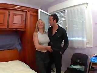 Sexy pierced blonde picked up and fucked