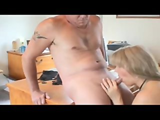 Chubby Blonde fucked in the office