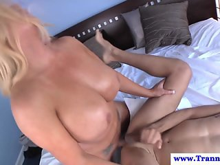 Bigtitted transsexual bareback nails guys ass