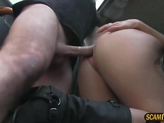 A fake taxi fan babe gets fucked hard