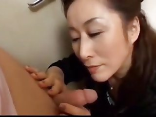 Asian mom gets her hands on boy. Uncensored