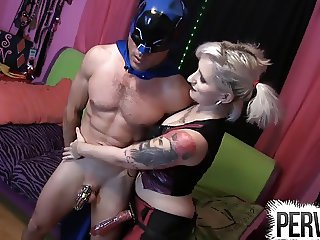 BATMAN GETS TORMENTED IN HIS CHASTITY DEVICE