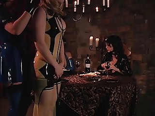 Sex slaves take care of MIstress