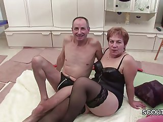 German Grandpa and Grandma Make Porn Casting First Time