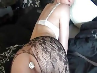 pantyhose anal creampie for a cute blonde