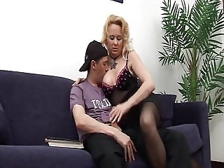 mature milf gets a young stud to fuck her