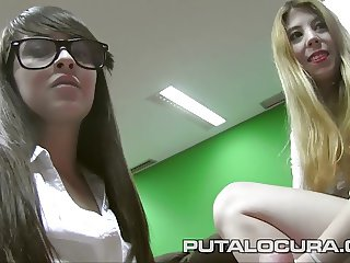 PUTA LOCURA Punishing Busty schoolgirls