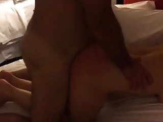 1st time hot wife while husband films