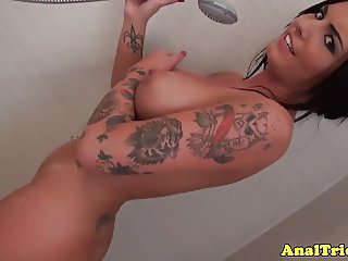 Bigtit anal amateur buttfucked after shower