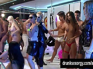 Hot party bitches gets nailed at orgy party