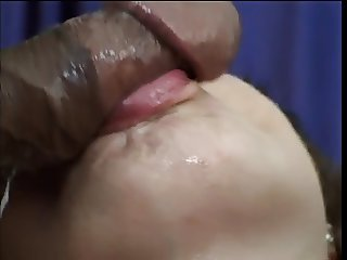 Interracial blue eyed bitch takes black cock