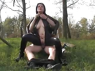 Hot german amateur in Latex outdoor