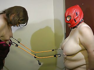05-Aug-2015 Sissy Seffie and Slut Slave Nipple Torture