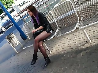 candid young german girl pntyhose