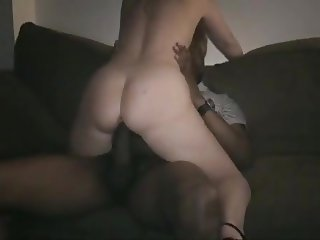 Wife riding a fat black dick