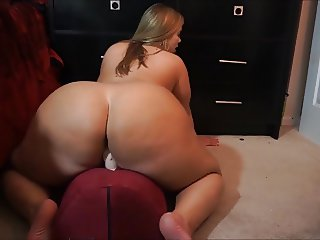 fat ass riding dildo booty bigbutt