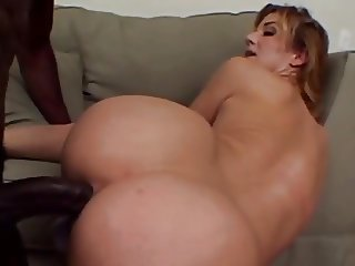 she loves  big cock black in her ass