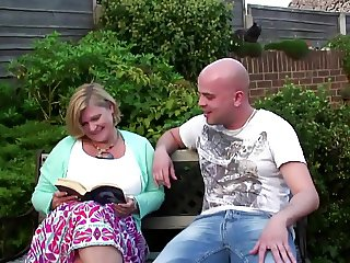Chubby mommy with big hungry vagina gets young cock