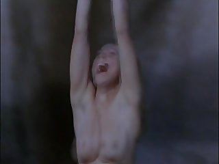 Dangling nude woman lowered into quicklime