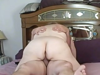her pussy swallows my cock,ass up & down i creampie