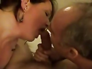 Husband and Wife Blow A Guy